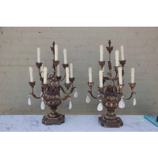 Rock Crystal Candelabras - A Pair Preview