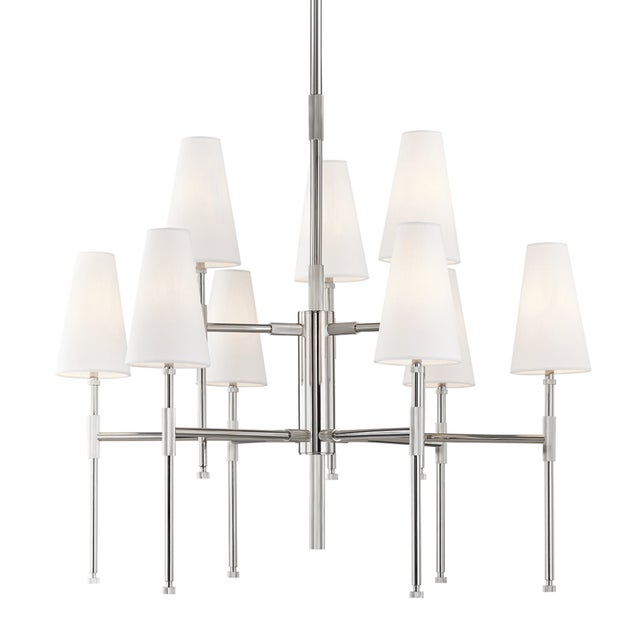 Transitional Bowery 9 Light Chandelier - Pn For Sale - Image 3 of 3