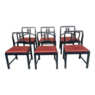 Michael Taylor for Baker Furniture Set of 6 Dinning Chairs. For Sale