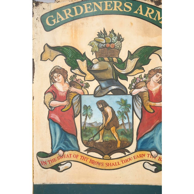 """English """"Gardeners Arms"""" Pub Sign - Image 5 of 7"""