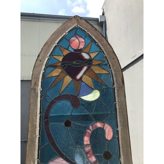 1900 - 1909 Antique Stained Glass Window, Circa 1900s For Sale - Image 5 of 12