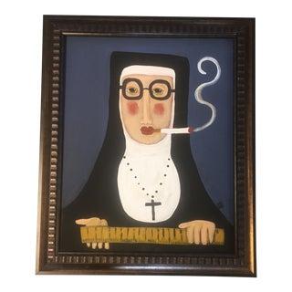 """Rose Walton """"Smoking Nun"""" Painting"""