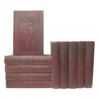 Antique Junior Classical Literature in Embossed Bindings, C.1918, S/10 For Sale