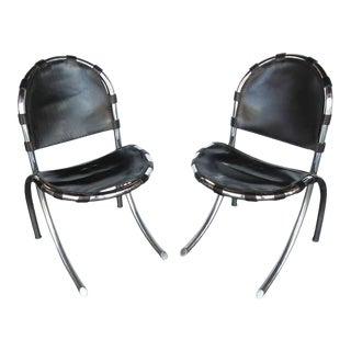 Italian Mid-Century Chairs by Tetrarch Bazzani International Studio- A Pair For Sale