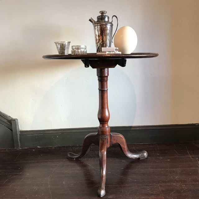 Traditional 19th C. Tilt-Top Table For Sale - Image 3 of 11