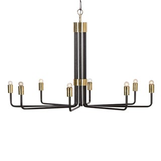 Modern Le Marais Black 8 Light Chandelier For Sale