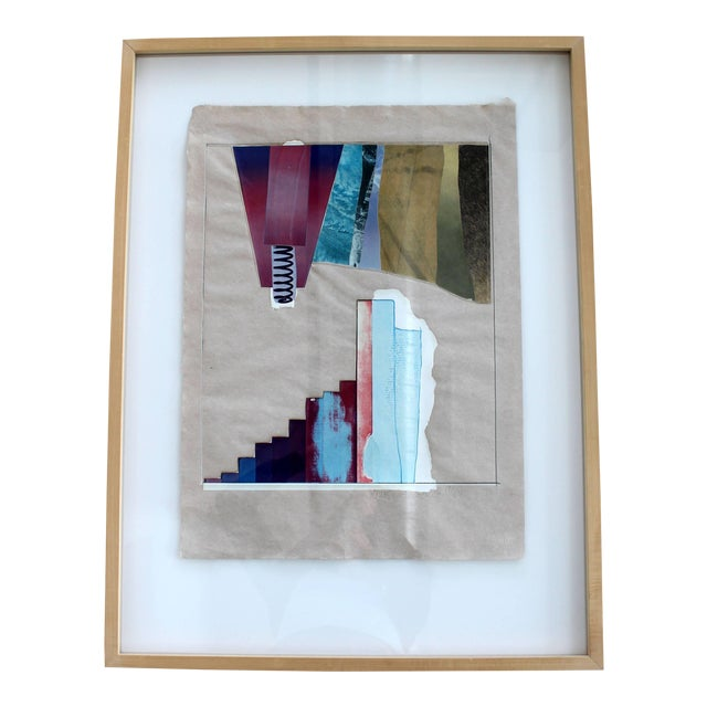 Mid-Century Modern Rauschenberg Signed Abstract Print Dated 1970s Numbered For Sale