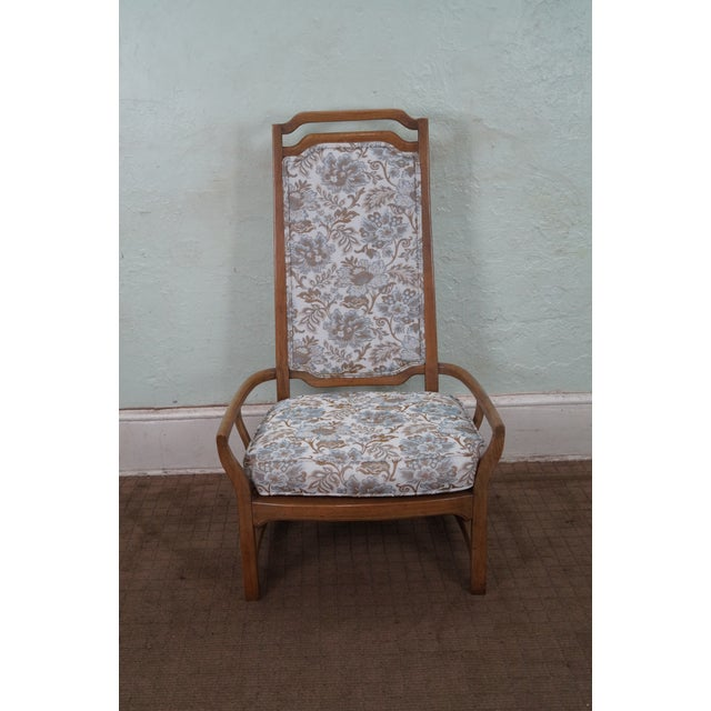 Mid Century Modern Walnut Upholstered Arm Chair - Image 3 of 10