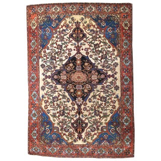 Persian Fereghan Sarouk Rug - 4′4″ × 6′6″ For Sale