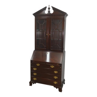 Chippendale Stickley Mahogany Secretary Desk For Sale