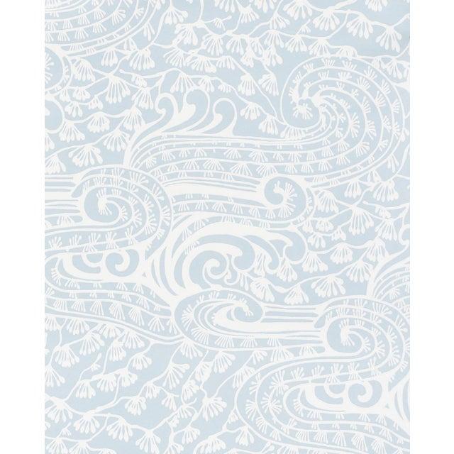 Asian Sample - Schumacher Mizu Wallpaper in Sky For Sale - Image 3 of 4