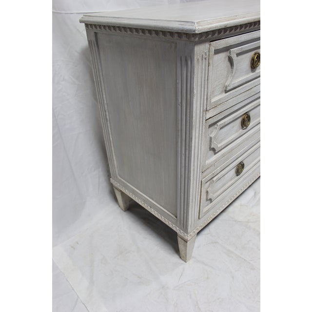 Early 20th Century 20th Century Gustavian Gray Oak Chest of Drawers For Sale - Image 5 of 7