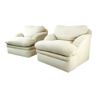 J. Robert Scott 1980s Lounge Chairs - a Pair For Sale