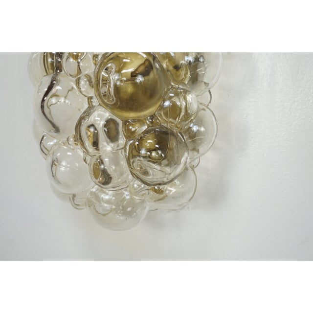 Mid-Century Modern Oblong Bubble Glass Wall Lights by Helena Tynell - a Pair For Sale - Image 3 of 8