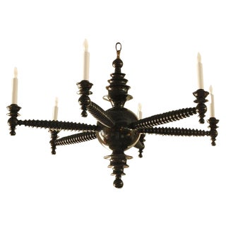 Paul Marra Design Spool Chandelier For Sale
