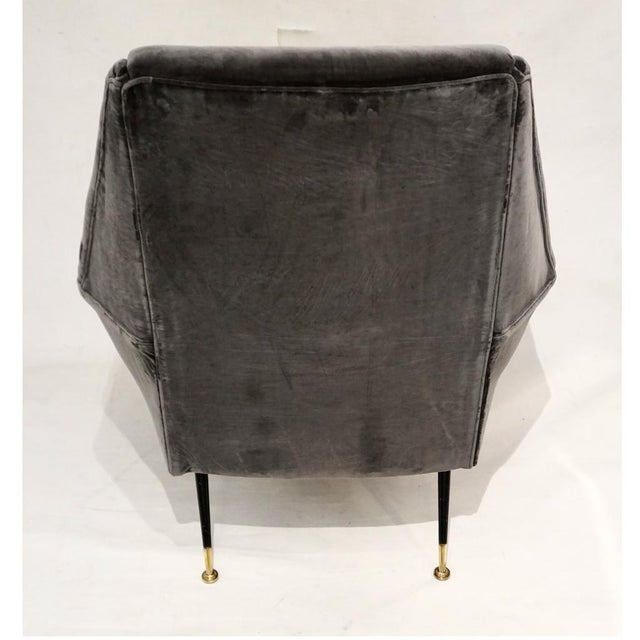 1950s 1950s Gigi Radice for Minotti Italian Vintage Gray Mohair Armchairs - a Pair For Sale - Image 5 of 9