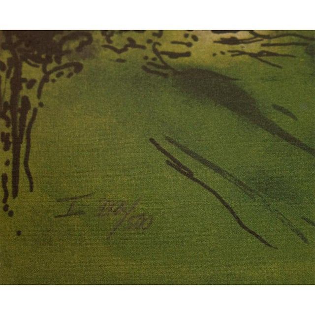 """Asparagus Marc Chagall """"The Flying Bouquet"""", XL Limited Edition Print With C. O. A., C.1990s For Sale - Image 8 of 13"""