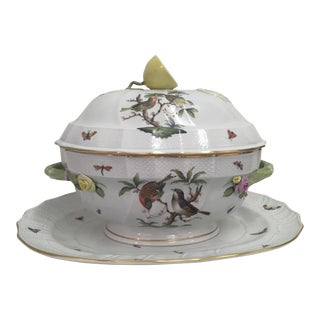 Herend Rothschild Tureen W/ Underplate For Sale