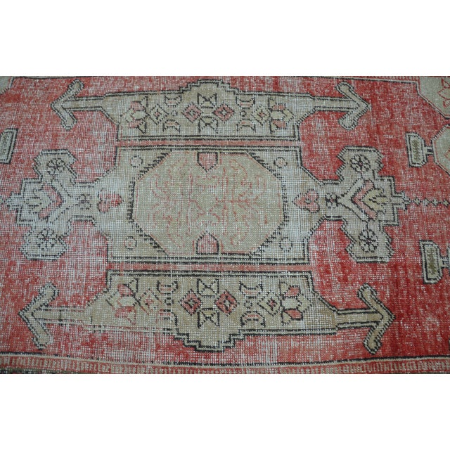 Bohemian Floor Wool Rug - 3′6″ × 7′4″ - Image 5 of 6