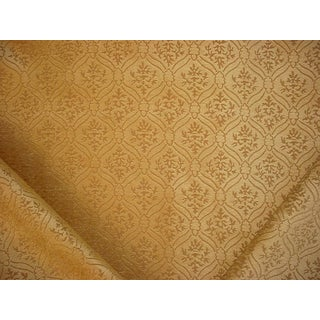 Brunschwig & Fils Spalliera Figured Chenille Gold Leaf Upholstery Fabric - 11-5/8y For Sale