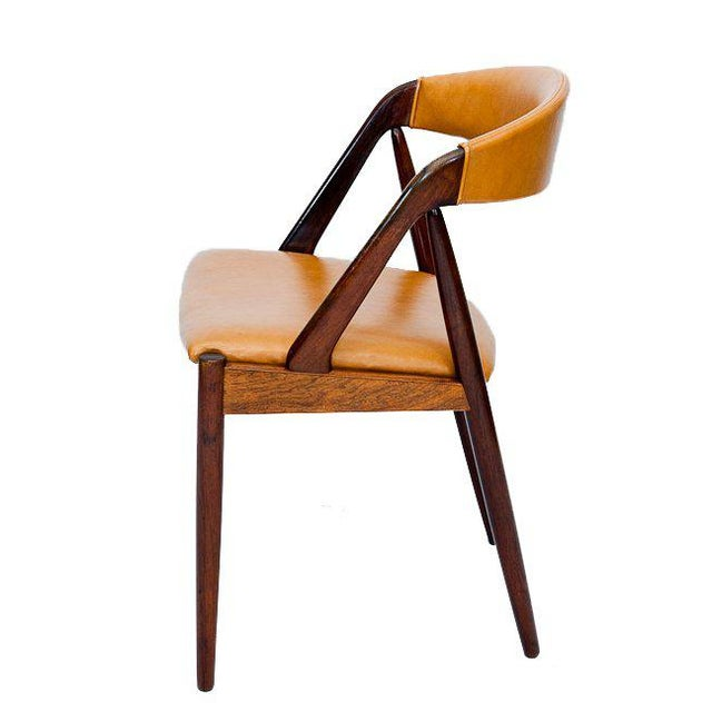 1960s Set of Six Rosewood Kai Kristiansen Chairs For Sale - Image 5 of 9