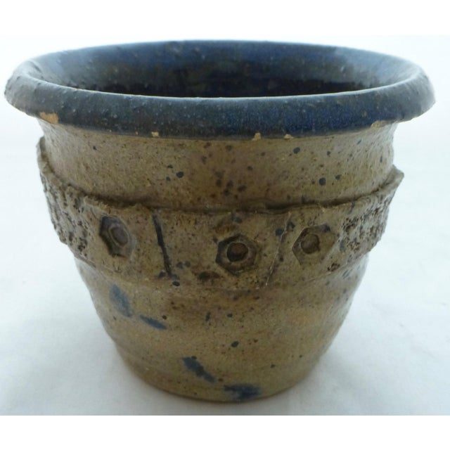 Gray Mid Century Signed Studio Pottery Vase For Sale - Image 8 of 10