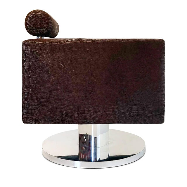 "Luigi Gentile Luigi Gentile ""Gigi"" Swivel Lounge Chair for Couture For Sale - Image 4 of 10"