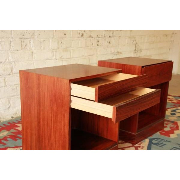 Danish Modern Rosewood Nightstands - Pair - Image 4 of 6
