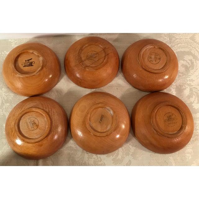 Mid-Century Modern Wooden Salad Bowls - Set of 7 - Image 5 of 11