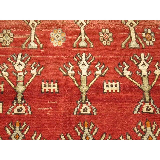 Vintage Tribal Rug - 3'8'' x 4'6' For Sale - Image 4 of 7