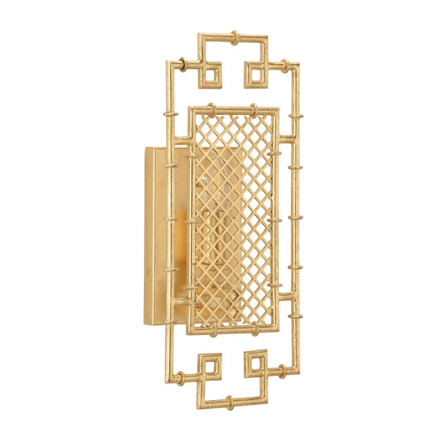 Benton Sconce in Gold For Sale