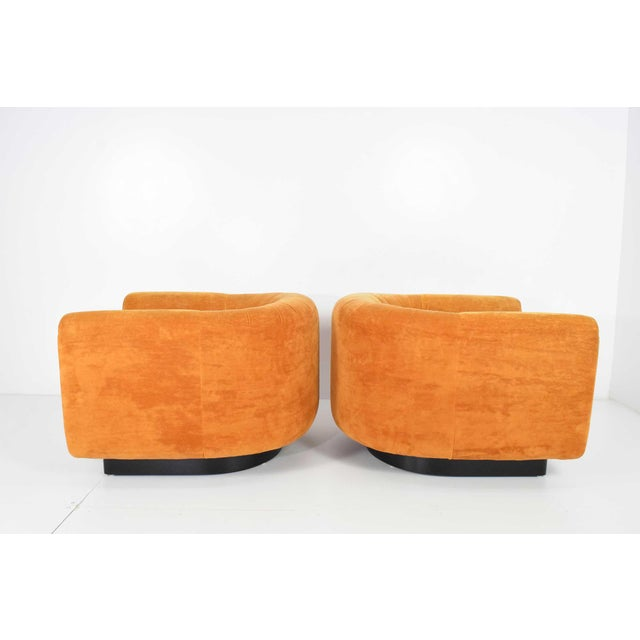 Pair of Milo Baughman Style Lounge Chairs by Metropolitan Furniture - Image 3 of 9