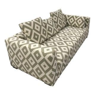 Minotti Geometric Custom Glant Fabric Sofa For Sale
