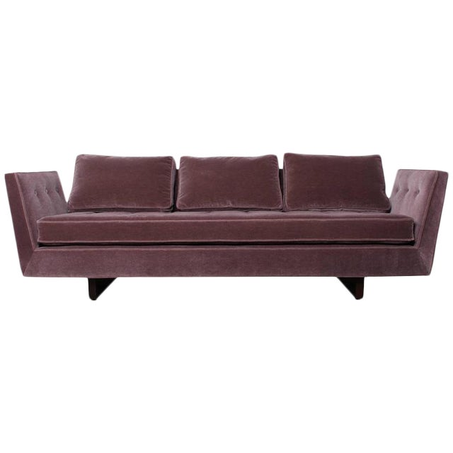 Split Arm Sofa by Edward Wormley for Dunbar For Sale