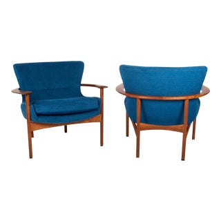 Horseshoe Chairs by Ib Kofod Larsen For Sale