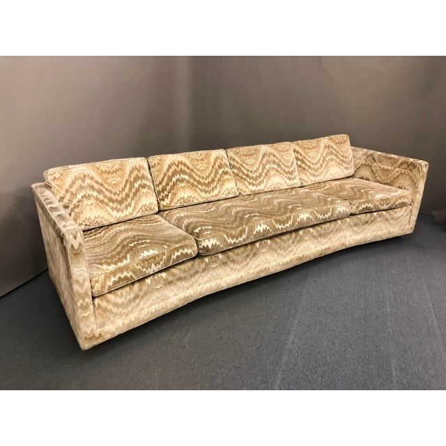 You are viewing a very cool large Mic Century Curved Sofa by Erwin Lambeth for John Stuart c1960s. The design features a...