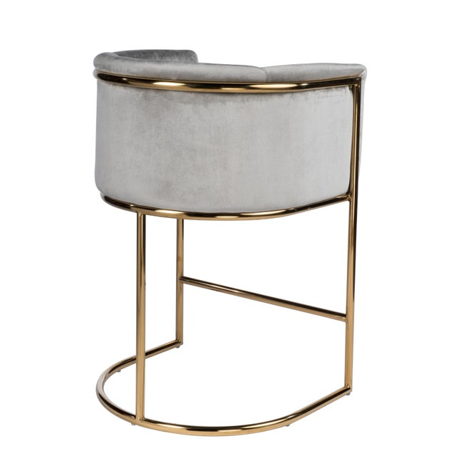 Art Deco Mira Gold Counter Chair For Sale - Image 3 of 4