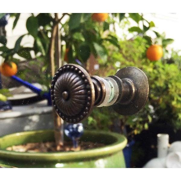 Bronze Regency Glam Mirrored Chest Dresser Nightstand For Sale - Image 7 of 10