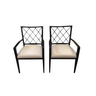 Classic Modern Arm Chairs - A Pair For Sale