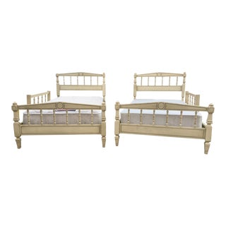1950's Dixie Painted Twin Bunk/Trundle/Bed Frames - a Pair