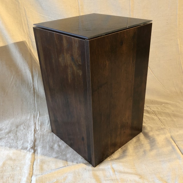 Faux Tree Stump Square Side Table For Sale In Miami - Image 6 of 6