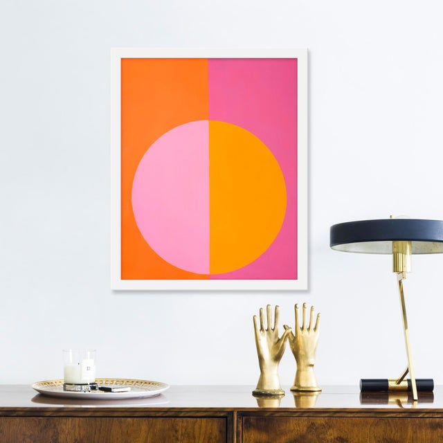 """Small """"Pink and Orange Forever"""" Print by Stephanie Henderson, 16"""" X 20"""" - Image 2 of 2"""