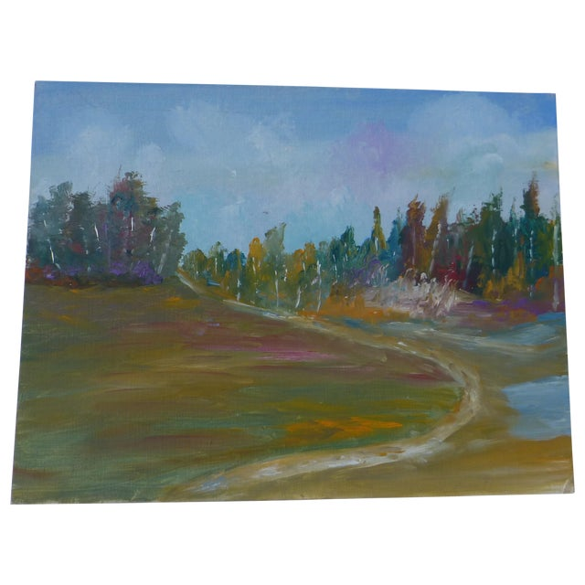 MCM Painting Autumn Path H.L. Musgrave - Image 1 of 6