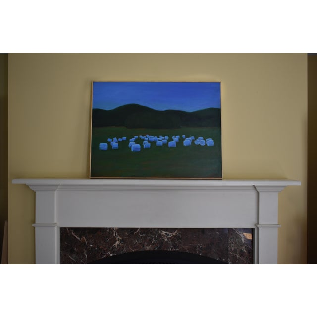 "2010s ""Baled Hay at Dusk"" Contemporary Painting by Stephen Remick For Sale - Image 5 of 11"