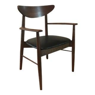 Mid-Century Modern Black Leather Chair