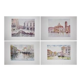 Original Mortimer Menpes Antique Lithographs of Venice - Set of 4