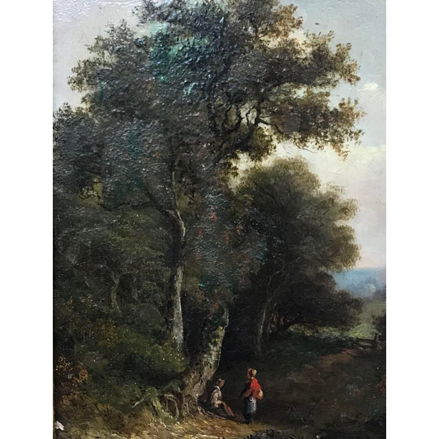 Traditional 19th Century Pastoral Landscape Oil on Board Painting, Framed For Sale - Image 3 of 10
