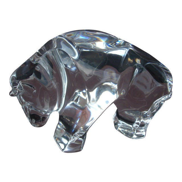Waterford Clear Crystal Bull - Image 1 of 5