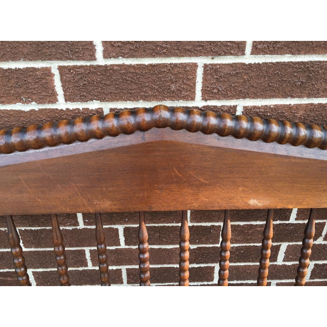 Jenny Lind Full Size Spindle Headboard Footboard & Side Rails For Sale - Image 4 of 9