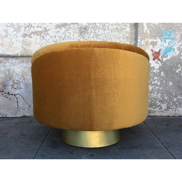 Hollywood Regency Gold Velvet W Chair - Image 6 of 6